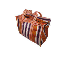 Home RP Thin Orange, Purple and White - Cubic Shopping Bag Anis
