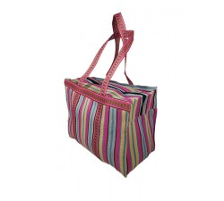 Home RP Thin skypink - Cubic Shopping Bag pink and cream