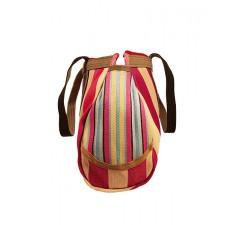 Inicio Bulbi, bolso tipo bowling hecho de plástico reciclado de color Rosa, celeste y crudo