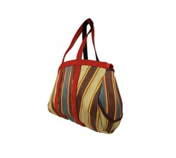 Home Bulbi Bag - Daark stripes is a bowling style bag made of reprocessed plastic wastes