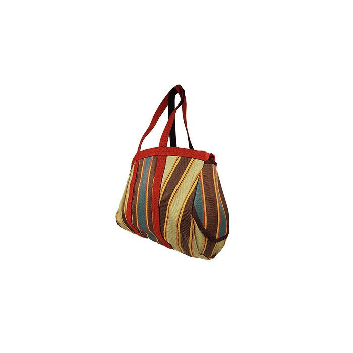 Bulbi Bag - Daark stripes is a bowling style bag made of reprocessed plastic wastes