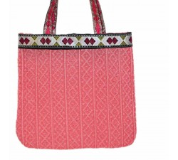 Transparent handbag Graphic light pink tote bag Babachic by Moodywood