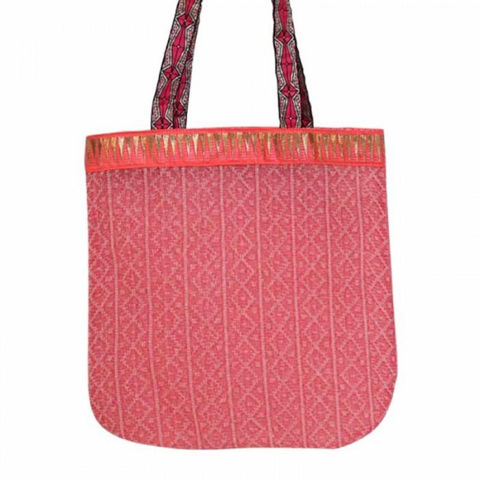 Golden light pink tote bag