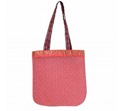 Transparent handbag Golden light pink tote bag Babachic by Moodywood