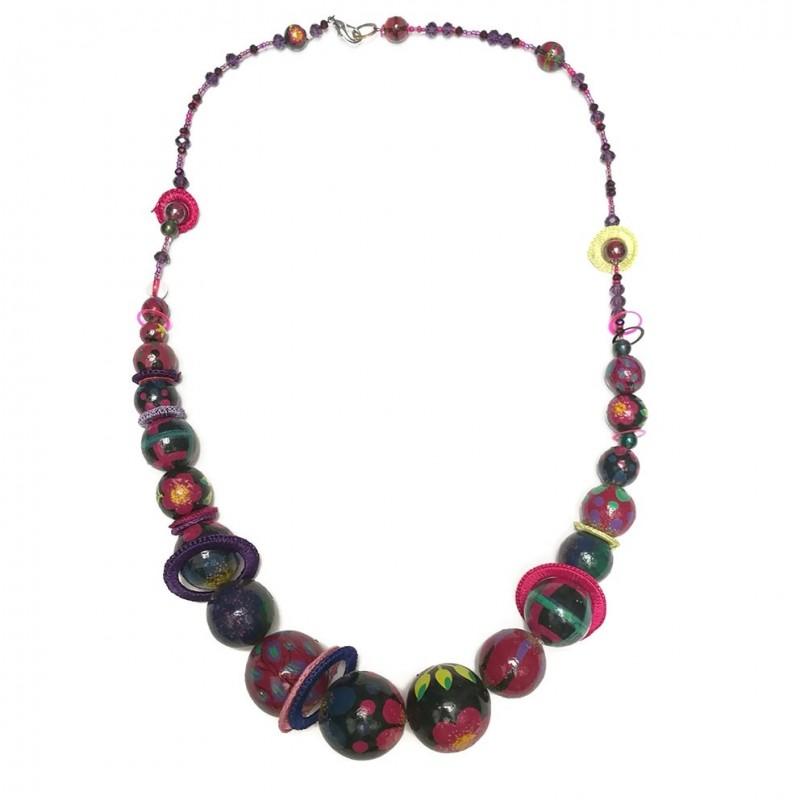 Mid-short necklace plum - Winter nights