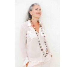 Collares Collar de malla largo beige/negro - Winter nights Babachic by Moodywood