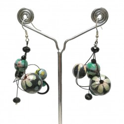 Pendientes Azul Twist - 4 cm - Winter nights