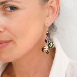Twist sky blue earrings - 4 cm - Winter nights