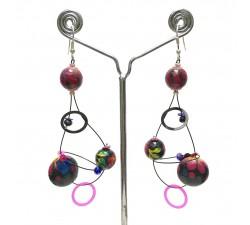 Earrings Sequin earrings plum - 6,5 cm - Winter nights Babachic by Moodywood