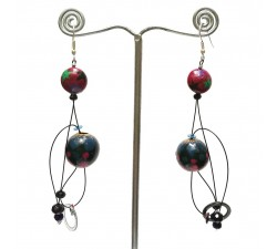Boucles d'oreilles Boucles Abis prune - 7 cm - Winter nights Babachic by Moodywood