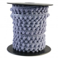 Les minis Galon de mini pompons - Gris - 10 mm babachic