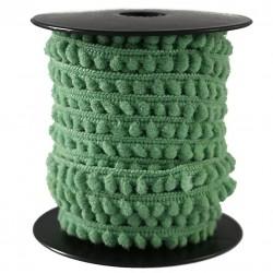 Les minis Galon de mini pompons - Vert olive - 10 mm babachic