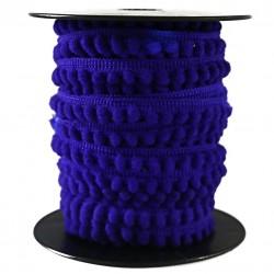 Les minis Galon de mini pompons - Bleu - 10 mm babachic