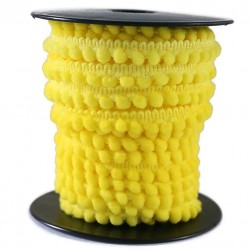 Galon de mini pompons - Jaune citron - 10 mm