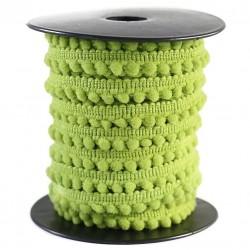 Les minis Galon de mini pompons - Vert anis - 10 mm babachic