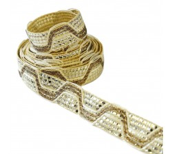 Galons Galon - ZigZag - Champagne - 20 mm babachic