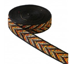 Ribbons Ribbon - Chevron - Orange - 25 mm babachic