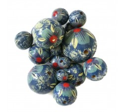Flowers Wooden beads - Hibiscus - Sky blue Babachic by Moodywood