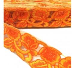 Bordado Tul bordado - Naranja - 45 mm