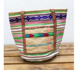 Tote bags Big bag - Nylon and jute - Orange Babachic by Moodywood
