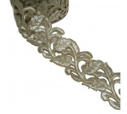 Lace Lace Guipure - Silvered - 55 mm babachic