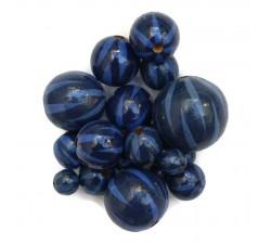 Zebra Perle en bois - Zébrée - Bleu marine Babachic by Moodywood