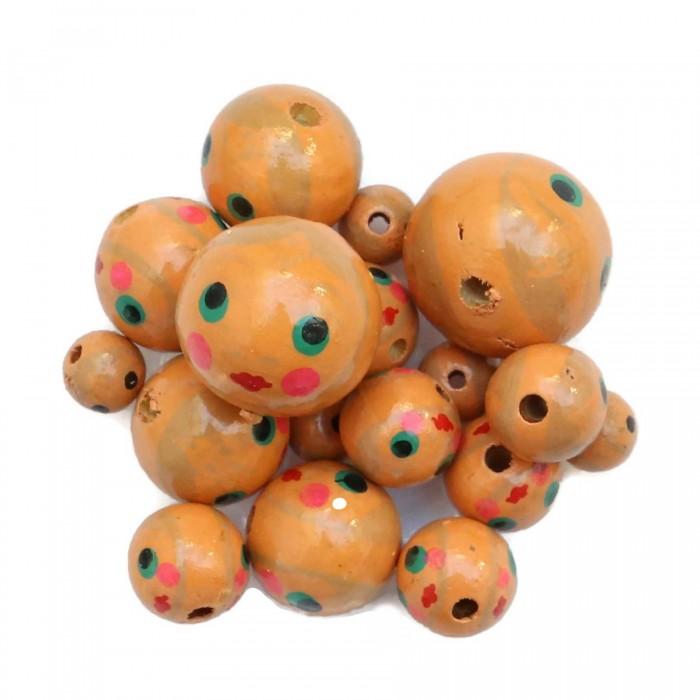 Perles en bois - Poupée - Saumon
