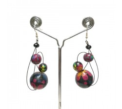 Boucles d'oreilles Boucles d'oreilles Prune - 6 cm - Winter nights Babachic by Moodywood