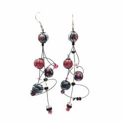 Earrings Ellipse earrings 9 cm - Black - Splash Babachic by Moodywood