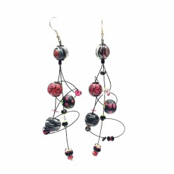 Boucles d'oreille Ellipse 9 cm - Noir - Splash