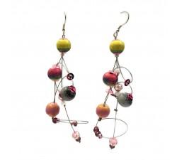 Earrings Ellipse earrings 9 cm - Moon - Splash Babachic by Moodywood