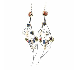 Boucles d'oreilles Boucles d'oreille Duchesse 16 cm - Fleur - Splash Babachic by Moodywood