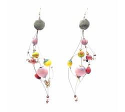 Earrings Duchess earrings 16 cm - Moon - Splash Babachic by Moodywood