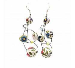 Earrings Loop earrings 7 cm - Flower - Splash Babachic by Moodywood