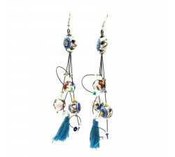 Earrings Pampille earrings 12 cm - Flower - Splash Babachic by Moodywood