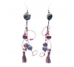 Boucles d'oreilles Boucles d'oreille Pampille 12 cm - Violet - Splash Babachic by Moodywood