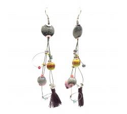 Boucles d'oreilles Boucles d'oreille Pampille 12 cm - Lune - Splash Babachic by Moodywood
