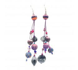 Earrings Drop earrings 12 cm - Purple - Splash Babachic by Moodywood