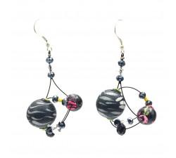 Earrings Drop earrings 4 cm - Black - Splash Babachic by Moodywood