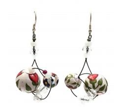 Earrings Drop earrings 4 cm - Flower - Splash Babachic by Moodywood