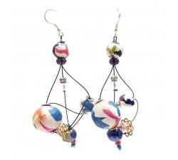 Earrings Rosace earrings 7 cm - Multicolor - Splash Babachic by Moodywood