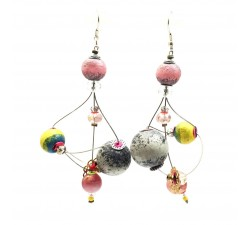Earrings Rosace earrings 7 cm - Moon - Splash Babachic by Moodywood