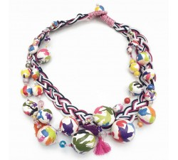 Colliers Collier Tresse - Multicolores - Splash Babachic by Moodywood