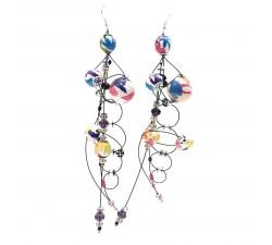 Earrings Torsade earrings 16 cm - Multicolor - Splash Babachic by Moodywood
