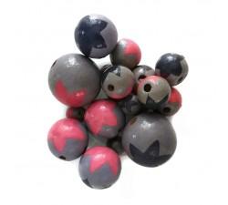Etoiles Perles en bois - Etoiles - Lilas, rose et bleu Babachic by Moodywood
