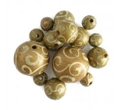 Spirales Perles en bois - Spirales - Doré Babachic by Moodywood