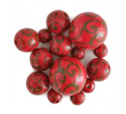 Twirls Perles en bois - Spirales - Rouge Babachic by Moodywood