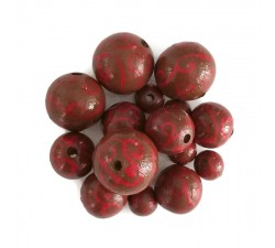Twirls Wooden beads - Twirls - Brown Babachic by Moodywood