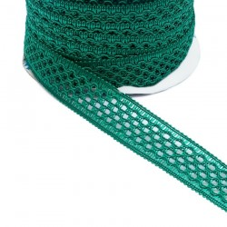 Lace Lace ribbon - Teal - 20 mm babachic