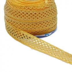 Lace Lace ribbon - Yellow - 20 mm babachic
